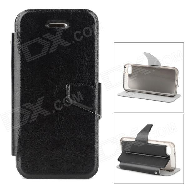 купить Stylish Flip-open PU Leather Case w/ Holder + Card Slot for Iphone 5C - Black недорого