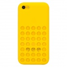 Protective Hollow-out Plastic Silicone Case for Iphone 5C - Yellow
