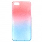 Protective Water Drop PC Back Case for Iphone 5C - Red + Blue