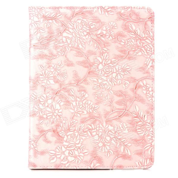 CT1211005 Stylish Knurling Flower Pattern 360' Rotating Back PU Case w/ Holder for Ipad 2 / 3 / 4 stylish flower pattern flip open pu leather case w holder 360 rotating back for ipad 2 3 4