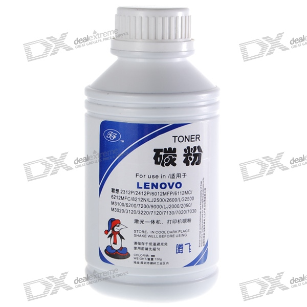 Black Refill Toner for Lenovo Laser and All-in-One Printers (5.3oz)
