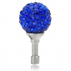 Universal Fashionable Crystal Bead Decorated 3.5mm Jack Anti-dust Plug for Cellphone - Blue