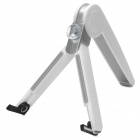 Universal Folding Tripod Stand Holder for Cell Phone - White + Silver