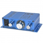 TELI A6 Aluminum Alloy 20W 2-CH Stereo Audio Amplifier for Car / Motorcycle / Golf Cart - Blue