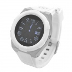 "KICCY A6 Water Resistant Bluetooth Smart Watch Phone w/ 1.54"", FM for Android and iOS - White"