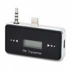 "Compact 0.7"" Screen Car FM Transmitter for iPhone 5 - Black"