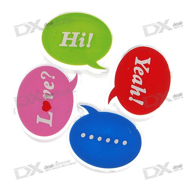 Greeting Word Style Fridge Magnets (4-Pack)