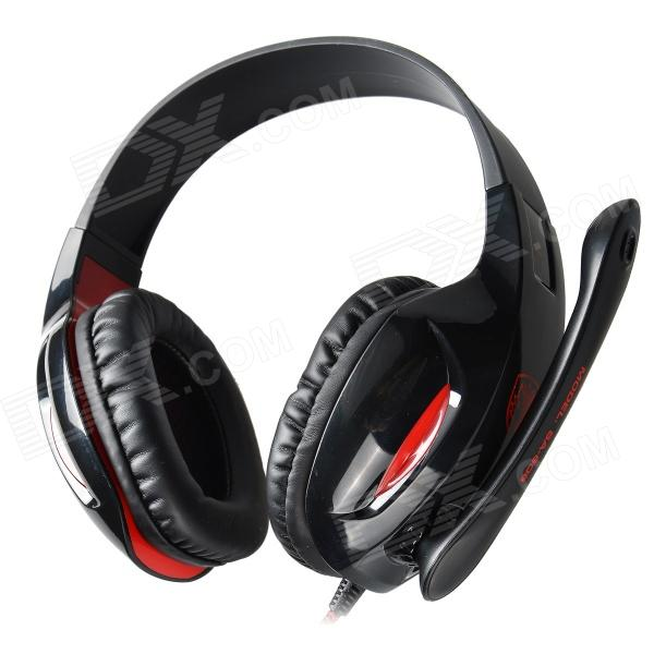 SADES SA-808 USB Gaming Headphones Headset - Black + Red (210cm-Cable) kotion each g2000 gaming headset pc gamer headphones headphone for computer auriculares fone de ouvido with microphone led light
