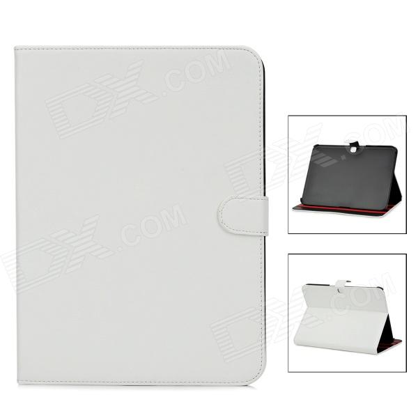 Protective PU Leather Case for Samsung Galaxy Tab 3 P5200 - White luxury flip stand case for samsung galaxy tab 3 10 1 p5200 p5210 p5220 tablet 10 1 inch pu leather protective cover for tab3