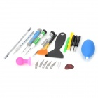 WLXY WL-9806 17-in-1 Repairing Disassembling Tools Set for Iphone 4 / 4S / 5 - Multicolored