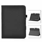 Lychee Grain Style Protective PU Leather Case for Samsung Galaxy Tab 3 P5200 - Black