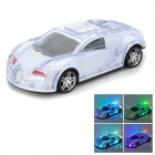 SUOYI SD-780 Sports Car Style Portable MP3 Speaker w/ TF / SD Slot / Mini USB / FM - White + Black
