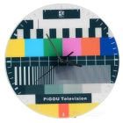 Nostalgic TV Setting Wall Clock - Multicolored