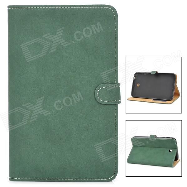 Stylish Protective PU Leather Case for Samsung Tab 3 T210 / P3200 - Dark Green tribal lines 360 rotating leather case for samsung t210 galaxy tab 7 0 3 p3200 green white