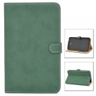 Stylish Protective PU Leather Case for Samsung Tab 3 T210 / P3200 - Dark Green