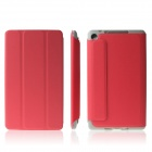 ENKAY ENK-7106 Protective PU Leather Case Cover Stand for Google Nexus 7 II - Red