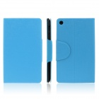 ENKAY ENK-7107 Protective PU Leather Case Cover Stand w/ Card Slots for Google Nexus 7 II - Blue
