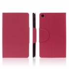 ENKAY ENK-7107 Protective PU Leather Case Cover Stand w/ Card Slots for Google Nexus 7 II - Red