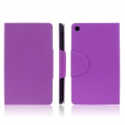 ENKAY ENK-7107 Protective PU Leather Case Cover Stand w/ Card Slots for Google Nexus 7 II - Purple