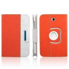 ENKAY ENK-7039 360' Rotation PU leather Case Cover Stand for Samsung Galaxy N5100 / N5110 - Orange