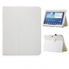 "360' Rotation Protective PU Leather Case Cover Stand for Samsung Galaxy Tab 3 P5200 10.1"" - White"