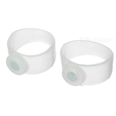 Slimming and Healthy Silicone Magnetic Toe Rings - Transparent (Pair)