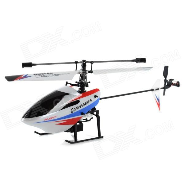 WLtoys V911 V2 4-CH Remote Control R/C Helicopter w/ Gyro Set - White + Black (Mode 1) wltoys wl r4 2 9 lcd 6 axis multi function remote controller for r c toy black 4 x aa