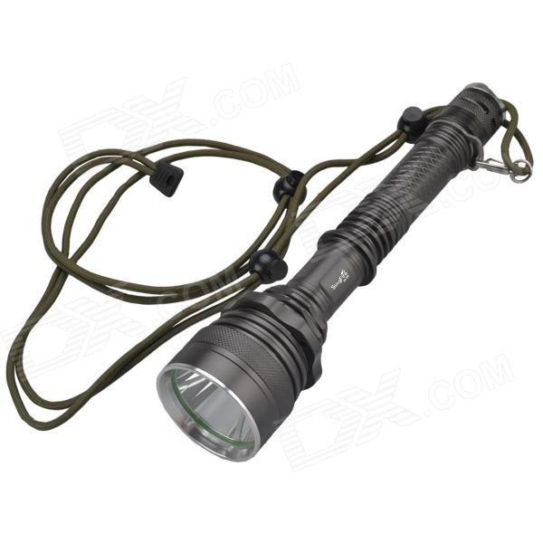 SingFire SF-319 600lm 5-Mode White Hunting Flashlight w/ Cree XM-L T6 - Brownish Grey (2 x 18650) singfire sf 813 1200lm 3 mode white bicycle headlamp w 2 x cree xm l t6 silver grey 4 x 18650