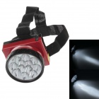 LE-8206 Rechargeable 12-LED 100lm 2-Mode White Light Headlamp for Hunting + More - Black + Red