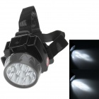 LE-8204 Rechargeable 9-LED 100lm 2-Mode White Light Headlamp for Hunting + More - Black + Grey