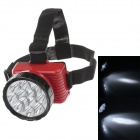 LE-8212 Rechargeable 12-LED 100lm 2-Mode White Light Headlamp for Hunting + More - Black + Red