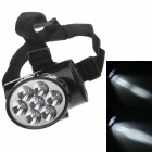 YAJIA YJ-1858-1 Rechargeable 7-LED 100lm 2-Mode White Light Headlamp for Hunting + More - Black