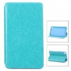 Detachable Protective PU Leather Case for Google Nexus 7 II - Blue Green