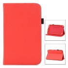 Lychee Grain Style Protective PU Leather Case for Samsung Galaxy Tab 3 8.0 T310 - Red