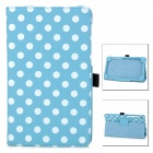 Polka Dot Style Protective PU Leather Case for Google Nexus 7 II - Blue + White