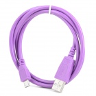 USB Male to Micro USB Male Extension Charging Data Cable for Tablet PC - Purple