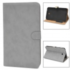Protective PU Leather Case w/ Stand for Samsung Tab3 T210 / P3200 - Grey