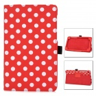 Polka Dot Style Protective PU Leather Case for Google Nexus 7 II - Red + White