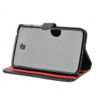 Stylish Protective PU Leather Case for Samsung Tab 3 T210 - Black