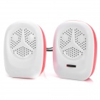 Y-2R Mini Portable USB 2-CH Speakers for Laptops / Tablets / MP3 + More - Red + White (2 PCS)
