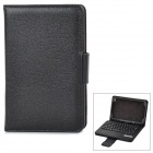 Protective PU + ABS Case w/ Removable Bluetooth 58-Key Keyboard for Samsung Galaxy Tab3 T310 - Black