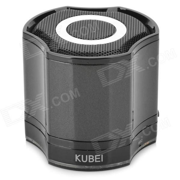 KUBEI 290 Wireless Bluetooth V3.0 Speaker w/ FM Radio - Black portable professional 2 4g wireless voice amplifier megaphone booster amplifier speaker wireless microphone fm radio mp3 playing