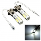 exLED H3 7.5W 500lm 5-LED White Light Backup / Car Foglight Light Bulbs - (12V / Pair)