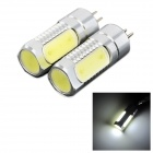 exLED G4 6W 350Lm 4-LED White Light Backup / Car Light Indicator Lamp Bulbs - (12V / Pair)