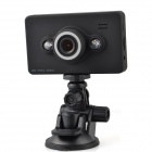 "D6  1080P 2.7"" TFT 5.0MP CMOS Car DVR Camcorder w/ 2-LED Night Vision - Black"