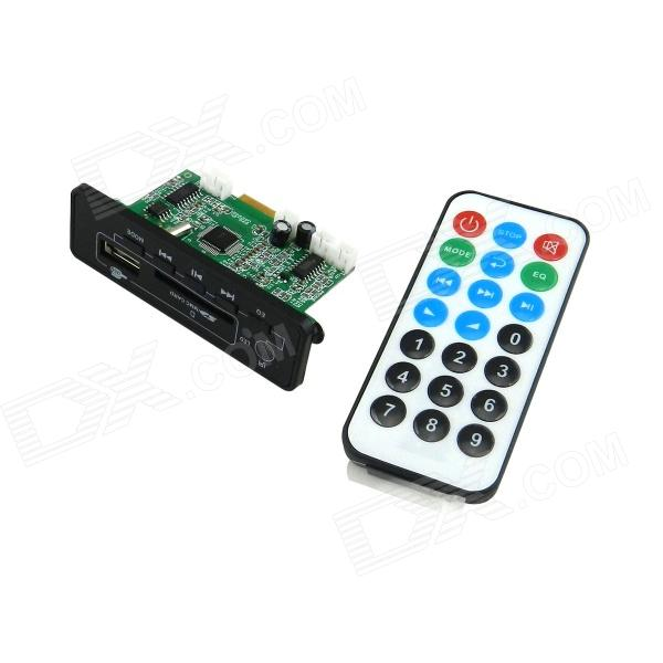 Digital Audio MP3 Player Module w/ Bluetooth, FM, Remote Controller for Car - Green + Black bluetooth mp3 decoding board module w sd card slot usb 2 0 port fm remote black white