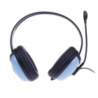 SunRose H702 Stereo Headphones w/ Mic + Volume Control - Black + Blue (3.5mm Plug / 220cm-Cable)