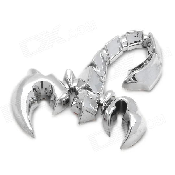ZS-403 Stylish Scorpion Style DIY Plastic Sticker for Car - Silver