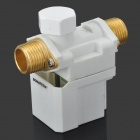"Electric Solenoid Valve for Water Air N/C 12V DC 1/2"" Normally Closed - Golden + White"