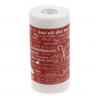 Novelty Food English Pattern Toilet Paper 2-Layer Roll Tissue - White + Red